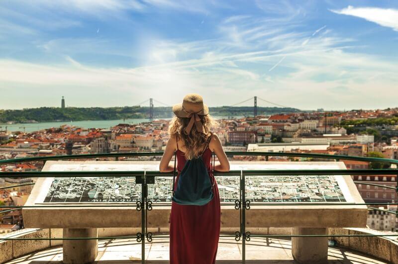 Fly Drive Lissabon stad overzicht