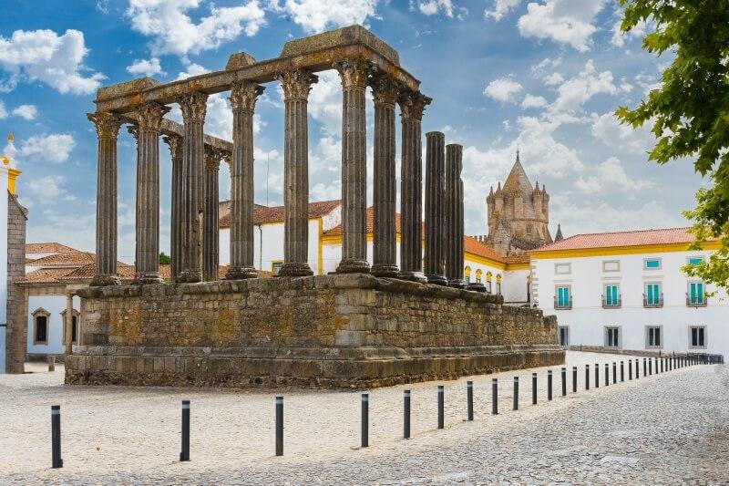 Evora Portugal, tempel van Diana
