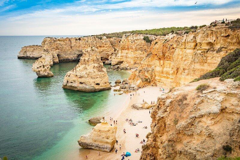Golden beach Algarve