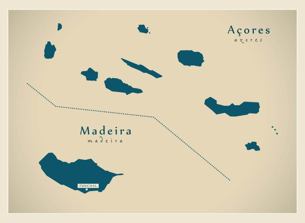 Azoren of Madeira